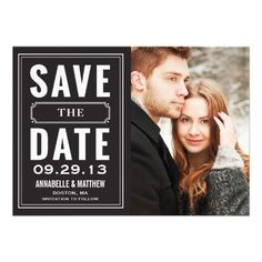Vintage Frame Save the Date Announcement #savethedate #wedding