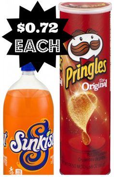 Pringles and Soda for $0.72 with New Coupon