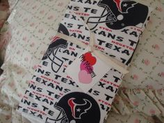 Houston Texans NFL football Boy or Girl Burp Cloth Burp Rag Lap Pad $8.10
