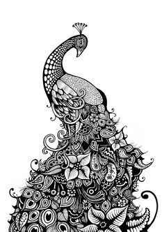 "Saatchi Art Artist Oliver Brown; Printmaking, ""Peacock"" #art"