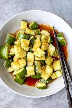 Smacked Cucumber with Chili Oil | Pickled Plum | Easy Asian Recipes