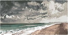 Walking at Cley - Andy Lovell artist printmaker