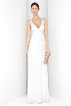 This was my wedding dress...I just went to the formal section in Bloomingdale's and picked it up...I got so many compliments on it, I think it was perfectly appropriate for the type of wedding I had, and just what I wanted.