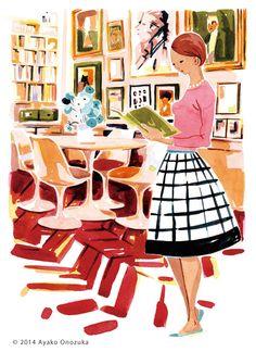 ayako onozuka #illustration #Interior #Fashion #Watercolor #イラストレーション