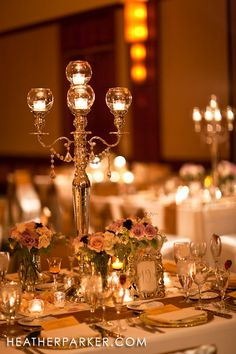 Vintage gold Chicago wedding with florist Stems using antique inspired lanterns with a gold and ivory theme