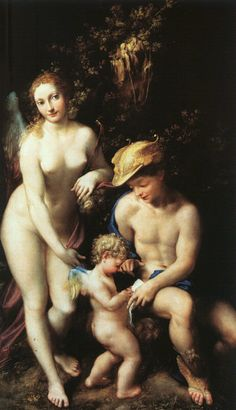 The Education of Cupid , c1528, artist - Antonio Allegri da Correggio