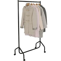 Buy Single Heavy Duty Clothes Rail - Black at Argos.co.uk - Your Online Shop for Hanging rails.