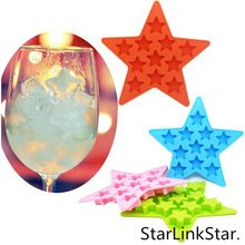 1pcs Summer Style Bar Drink Whiskey Sphere Silicone Star Shape Brick Ice Cube Maker Tray Mold Mould Sorvete Ice Cream Tools(China (Mainland))