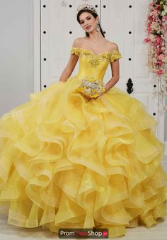 Ball Gown Yellow Appliques Beading Lace-Up Multi-Layers Quinceanera Ball Gown Dresses, 15 Dresses, Dresses For Sale, Wedding Dresses, Pageant Dresses, Fashion Dresses, Pretty Quinceanera Dresses, Quinceanera Themes, Belle Dress