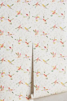 Plumed Crest Wallpaper #anthropologie