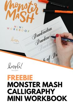Bored with your usual calligraphy practice? Mix it up with this monster-themed calligraphy workbook! Free to download and print, and perfect for practicing your brush calligraphy.
