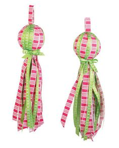 Jingle & Jolly Tassel Ribbon Ornaments