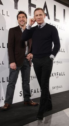 Javier Bardem and Daniel Craig at 'Skyfall' Photocall in Madrid [Photo Credit: Solarpix/PR Photos]