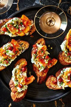 This quick and easy 30-mintue chile spiced delicata squash crostini recipe incorporates delicata squash, pancetta, garlic, oregano, baguette, ricotta cheese, chives, parmesan cheese and pistachios to create the ultimate fall recipe. Whether you're looking to eat this squash recipe for a snack, side dish, appetizer, light lunch or weeknight dinner, it's a great choice for a fall recipe.#squashrecipes #comfortfood #crostinirecipes #delicatasquash