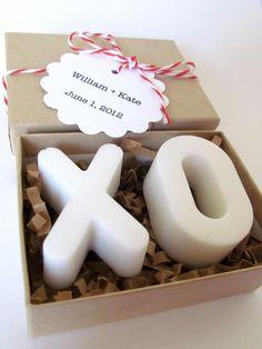 XO SOAP. Wedding Favors. Vegan Glycerin Soap.
