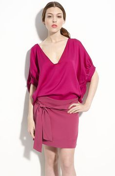 Love DVF- usually for the wrap dress but am really appreciating the modern take on color blocking!