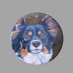 HAND PAINTED CHIHUAHUA DOG NATURAL MOTHER OF PEARL SHELL DIY PENDANT ZP30 00745 #ZL #PENDANT