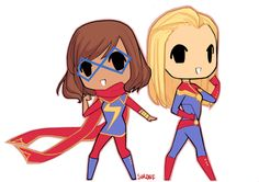 chibi Kamala and Carol by Sirdef