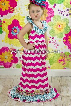 Hot Sale Trendy Lime Green Polka Sash Pink Chevron dresses new fashion for kids dresses for 2-8 years baby girl summer dress $4~$6