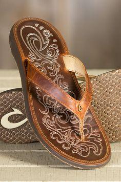 Women's Olukai Paniolo Leather Sandals | Overland Sheepskin