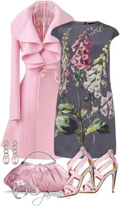 """""""Pink & Grey 4"""" by jaimie-a on Polyvore"""