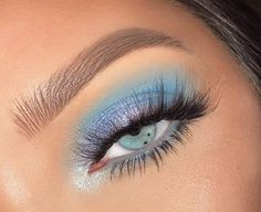 Blue Eyeshadow Blue Eyeshadow ,make up Related posts:- makeupaddy rae - makeupGet The Halo Eyeshadow Look With These Tips & Gorgeous Inspo - makeuptik tok - makeupFabulous eye makeup ideas make your eyes pop. Creative Eye Makeup, Colorful Eye Makeup, Colorful Eyeshadow, Blue Eyeshadow Looks, Pastel Eyeshadow, White Eyeliner Looks, Summer Eyeshadow, Pastel Makeup, Bright Makeup
