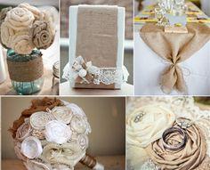 Jute Lace Hochzeit Ideen Jute Hochzeitsdeko und Einladungskarten ...