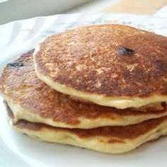 Oatmeal and Wheat Flour Blueberry Pancakes Allrecipes.com