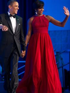 Party Perfect  You might not have a fancy event like a Congressional Black Caucus Foundation Phoenix Awards dinner (which is where Michelle Obama wore this Michael Kors gown, but you can steal the style for less for your next party.