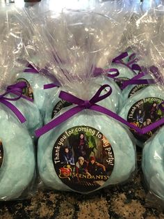 Disney Descendants Cotton Candy Favors- we can do any theme! by BellissimaParty on Etsy