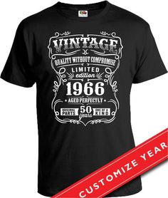 50th Birthday Gift For Men 50th Birthday T Shirt 50th Birthday Present Born  In 1966 50 Years Old Gifts For 50th Birthday Mens Tshirt CTM-166