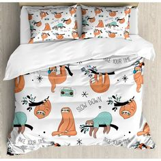 Bed Duvet Covers, Duvet Cover Sets, Pillow Shams, Bedroom Themes, Bedrooms, Bedroom Bed, Bed Spreads, Queen Size, Girl Room
