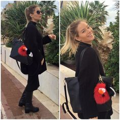 Laura Cosoi and her new Païsi Bag Bug friend :)