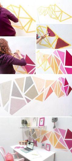 Kreativ und leicht zu Hause die Wände gestalten