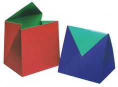 color blocked boxes