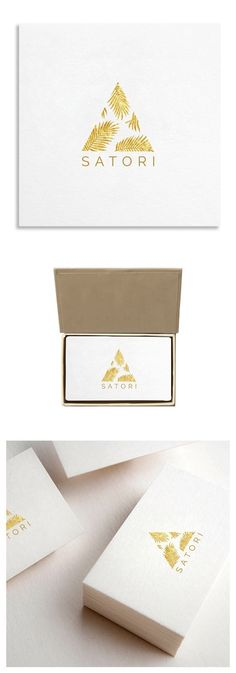 Golden Palm Illustration Logo Template $19.00: