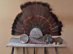 A personal favorite from my Etsy shop https://www.etsy.com/listing/525912401/turkey-fan-and-multiple-beard-mount