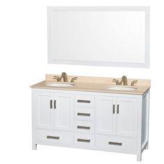 "Milan 60"" Double Bathroom Vanity Set"
