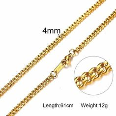 PermaGold 18K Gold Cuban Link Jewelry Chain
