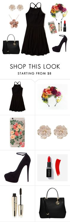 """""""Day of the Dead"""" by kiaracmccarthy on Polyvore featuring Hollister Co., Rifle Paper Co, River Island, Giuseppe Zanotti, L'Oréal Paris, MICHAEL Michael Kors and Allurez"""
