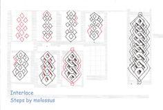 Life Imitates Doodles: My tangle pattern: Interlace