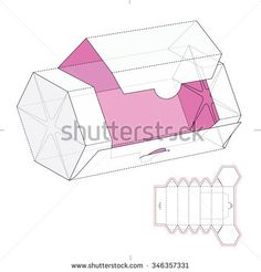 Hexagonal Dispenser Box with Die Cut Template
