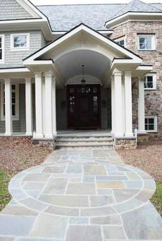 Front entry home remodel built by J. Allen Smith Design Build located in Frederick MD, near the Washington DC area.