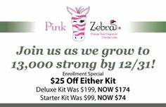 Join us as we grow to 13,000 by the end of December! Join by December 31st and SAVE $25 on either kit. This is an amazing deal! Go to www.sassyscentedsprinkles.com to sign up, or visit me on facebook: www.facebook.com/sassyscentedsprinkles