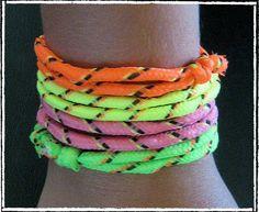 Neon vriendschap armbanden