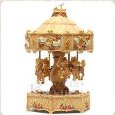 Laxury LED Illumination Carousel Music Box (Model Qws09154,polyresin)