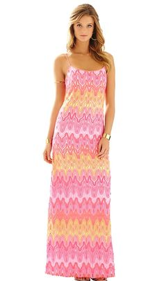 d38aa895ff7 We adore this lovely Lilly Pulitzer Avalon Spaghetti Strap Lace Maxi Dress!   AshworthPrimandProperLoves Casual