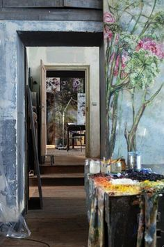 Claire Basler's Paris atelier (via nestpearls.blogspot.com.au)