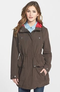 DKNY+Contrast+Lined+Hooded+Anorak+available+at+#Nordstrom
