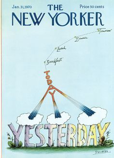 Saul Steinberg : Cover art for The New Yorker 2346 - 31 January 1970 The New Yorker, New Yorker Covers, Vintage Comics, Vintage Posters, Saul Steinberg, Smart Set, New Yorker Cartoons, Thing 1, All Poster